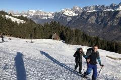 erste Schneeschuhtour am Freitag bei bestem Wetter.