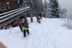 Start der Schneeschuhtour am Samstag